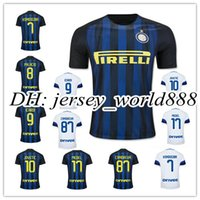 Wholesale Top Thai quality Inter Milan home soccer jersey JOVETIC ICARDI PALACIO KONDOGBIA MEDEL CANDREVA away white Milan football shirts