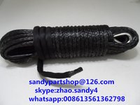 Wholesale mm m electric winch rope for auto parts winch cable for offroad winch line for electric winches