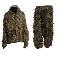 Wholesale Leaf Ghillie Suit Woodland Camo Camouflage Clothing D Jungle Hunting Free Size