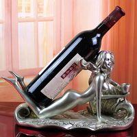 belle tools - Wine holders Classical style synthetic resin Beach belle barware Wine Rack Creative top elegant bar tools Z