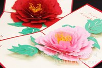 anniversary flowers pictures - Peony Flower Three dimensional Greeting Card D Originality DIY Manual Greeting Card Can Come Picture Come Sample Customized