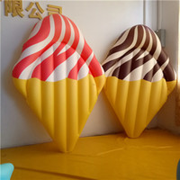 Wholesale 180CM Giant Inflatable Choc Ice Cream Pool Float Inflatable Summer Water Toy Outdoor Sport Pool Party Toy