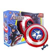 al por mayor avengers movie aderezos-Escudo de vuelo cossplay Props Avengers Película de plástico Captain America 3 Civil War Capitán América EMS