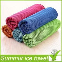 Wholesale Gifts package Cold Towel Summer Sports Ice Cooling Towel Double Color Hypothermia cool Towel cm for sports Adult