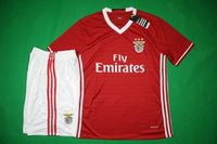 Wholesale Benwon Benfica home red soccer sets thai quality football jerseys short sleeve soccer uniforms men s athletic outdoor sports kits