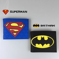 batman photos - DC Marvel Comics Wallets Super Hero Batman Superman Wonder Woman The Green Lantern Flash Man Cartoon Leather Bags Short Wallet