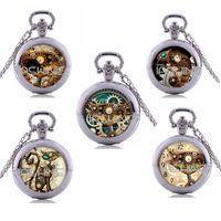 antique cat clock - Steampunk Cat Pocket Watch Necklace Steampunk Clock Necklace Steampunk Jewelry cat pocket watch