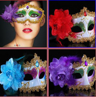 Wholesale 20PCS Sexy woman Venetian Mask eye masquerade Mask for Halloween masquerade balls Mardi Gras Venetian Prom Mask Lace diamond mask