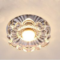 bathroom chandeliers - 3W LED crystal modern light chandelier lighting high power Led ceiling downlight bulbs lights AC85 V Fixture abajur lampshade