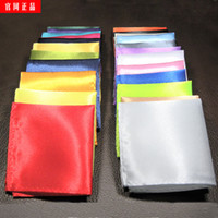Wholesale Pocket Handkerchief for Men s Suit Satin Hand Made Multi Colors Wide Use in Party Full Dress Accessories