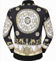 Wholesale 2016 brand new style High quality men s fashion brand gold printing stand collar jacket winter coat Color