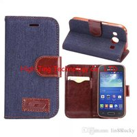 ace style - Jean cloth PU leather case For Galaxy ace style LTE G357 flip leather wallet stand phone case cover for G357 flip wallet case