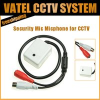 Wholesale ini AUDIO CCTV Microphone MIC For Security DVR Cameras No Noise Audio Monitor Sound pickup Head