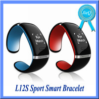 Wholesale L12S Smart wristband inch OLED Screen mah Bluetooth Pedometer Music Play Anti Lost Calling Remind Muti Language VS TW64S I5 PLUS