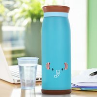 Wholesale 500ml Thermos Mug Insulated Tumbler Travel Cups Stainless Steel Vacuum Cup thermos tea termos coffee flask BLUE Color