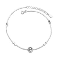 Wholesale high quality sterling silver handmade bead Anklet China low prices