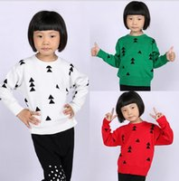Wholesale 2016 new autumn winter sweater BOBO Triangle Christmas tree with knitted hedging Children s Sweaters baby clothes Sweatshirts E452