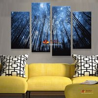beautiful paintings - Unframe Panels Modern Abstract Canvas Prints Artwork Beautiful Starry Sky Canvas Painting Wall Art Home Decor For Living Room Picture