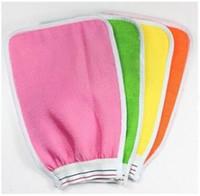 Wholesale Express Freeshipping Shower Towel Magic Peeling Glove Exfoliating Bath Glove