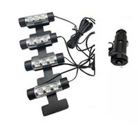 Wholesale 4 in1 Set Universal Car Blue LED Interior Floor Decoration Light Atmosphere Lamp