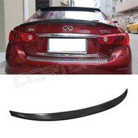 Wholesale Carbon fiber Infiniti Q50 rear trunk spoiler