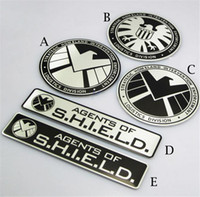 Wholesale HD Creative Design SHIELD Automobile Hub Sticker Metal Car Motorcycle Decal Sticker Badges Emblem For Tank