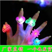 Wholesale 50pcs Light cute cartoon ring lamp flashing child led finger light gift night market toy for children s birthday gift