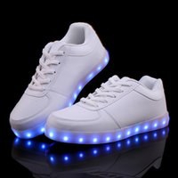 adult baskets - 2015 Fashion basket Led shoes for adults Men Women Luminous light up shoes for adults glowing chaussure led femme drop shipping