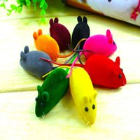 Wholesale 2016 new Cute Beautiful Funny Fashion New Bright Coloured Little Mouse Toys For Pets Sound