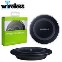 Wholesale 2016 Universal Qi Wireless Charger not fast Charging For Samsung Note Galaxy S6 s7 Edge mobile pad with retail package with usb cable