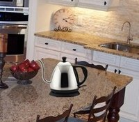 Wholesale 1 L high quality small electric kettle tea pot Electric coffee pot with long spout base on UL Standard SJT plug