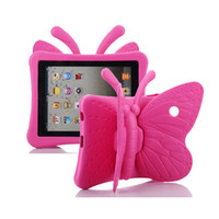 Wholesale 3D Cute Butterfly EVA Thick Foam Rugged Child Kids Shockproof Tablet Cover Case For Ipad Protective Shell Skin