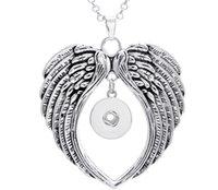al por mayor s de los hombres de joyería de metales-Collar de alas de jengibre botón de metal broche de joyería boho colgante 20pcs 2016 para adaptarse a las mujeres (broches de presión de 18 mm) vendimia de los accesorios de los hombres