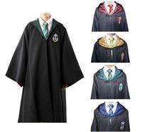 potter - Hot Harry Potter Cosplay Cloak Cape Gryffindor Slytherin Hufflepuff Ravenclaw Robe Tie Size S M L XL XXL
