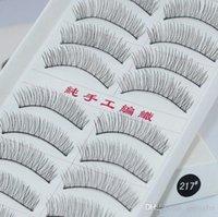 Wholesale 10pair Beauty Cotton Eyelash Extension False Eyelashes Black Fake Eye Lashes