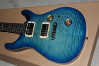 big blue guitar - Big sales Birds Inlay Fingerboard BLUE electric guitar blue back