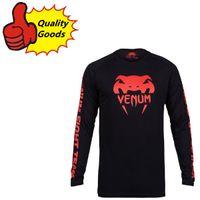 Wholesale MMA new styles sport long T shirt Muay Thai black