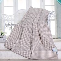 Wholesale The Latest Version Water Washing Summer Quilt Brown Small Grid By Core There Are Three Dimensions Suitable For Family Hotel In Hospital