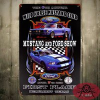 Wholesale TIN SIGN The Ford mustang show Metal Decor Art Bar Pub Shop Store