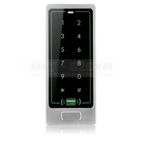 Wholesale 8000 User Access Controller Metal Case KHz RFID Reader Password Touch Keypad Backlight Key C10 Silver