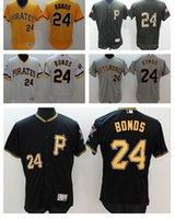 best flex - 2016 Best quatily jersey Pittsburgh Pirates BONDS white Grey Black Yellow Army Green Stitched Flex Base Baseball Jerseys