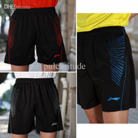 Wholesale Li Ning dett men s table tennis clothing badminton game Shorts new Blue white and red