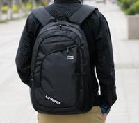 Wholesale Famous Lining cmx30cmx17cm Laptop Bag Backpack Men Black Travel Bags Women Outdoors Hiking Waterproof School Bags
