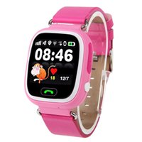 Wholesale 1 Touch Screen Smart Watch Children Kid Wristwatch SIM Phone GSM GPS Locator Tracker Anti Lost Smartwatch Child Guard for iOS Android