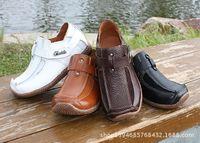 Wholesale Fashion Boys Cow Leather Casual Shoes Kids Boys Autumn Winter Genuine Leather Shoes Children s Christmas Shoes