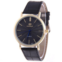 analog brand clothing - Men s Business Wristwatches Imitation Leather Quartz Watch Screw Down Crown Pin Buckle Brand New Clothing Decoration Business Fashion R