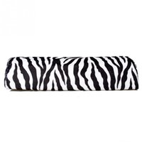 Wholesale Zebra Stripe Hand Rest Cushion Soft Pillow Nail Art Design Manicure Half Column NJ