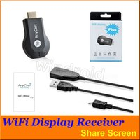 Anycast M2 más venta al por menor androide 30pcs DHL del palillo de AirMirror del receptor AirMirror de la exhibición de Aircast WiFi de la exhibición de WiFi de la exhibición de WiFi de HDMI Multidisplay 1080P