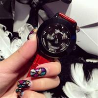 batteries hong kong - Hong Kong New Mashali Fashion High grade Luxury Luck has Turned Analog Black Genuine Leather Strap Quartz Women Dress WristWatch