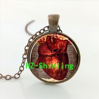 american biology - 2016 Glass dome jewely Necklace Vintage Human Heart Anatomy Pendant Neurologist Gift Biology Medical Student Gift Neurology Pendant CRS